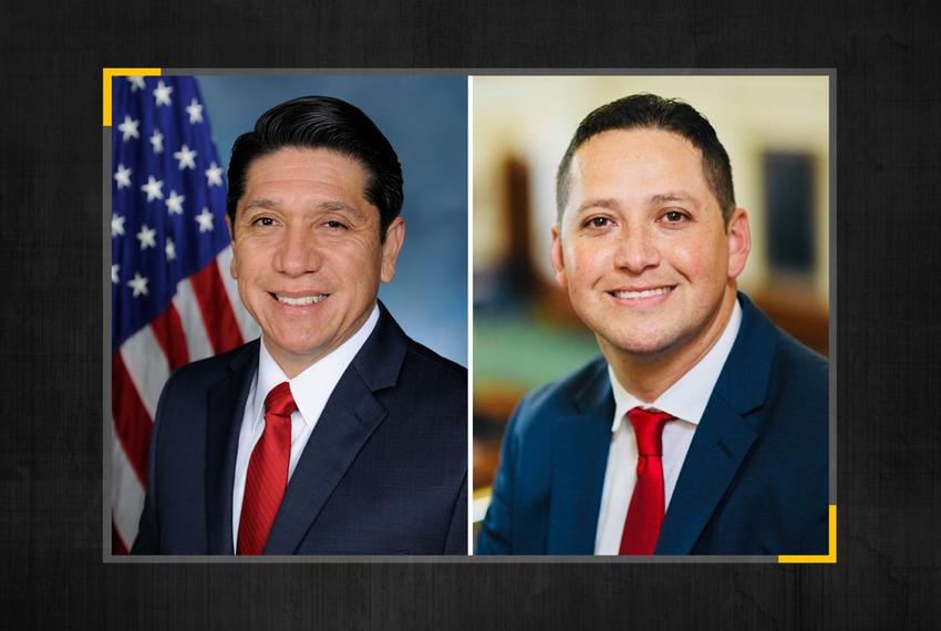 From left, Raul Reyes and Tony Gonzales are running for the Texas Congressional District 23 seat that is being vacated by U.…