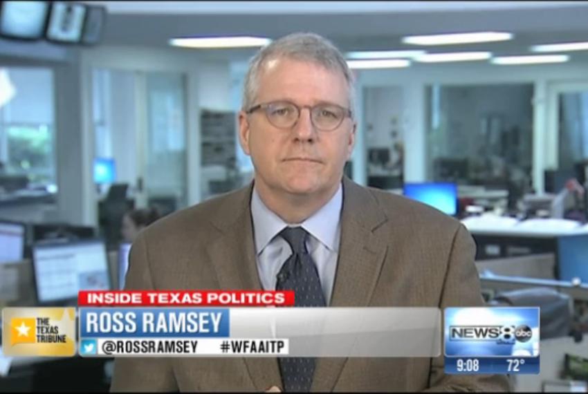 "Texas Tribune Executive Editor Ross Ramsey on WFAA-TV's ""Inside Texas Politics"" on June 22, 2014."