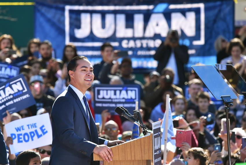 Julián Castro, the former mayor of San Antonio and the former secretary of House and Urban Development, announced his cand...