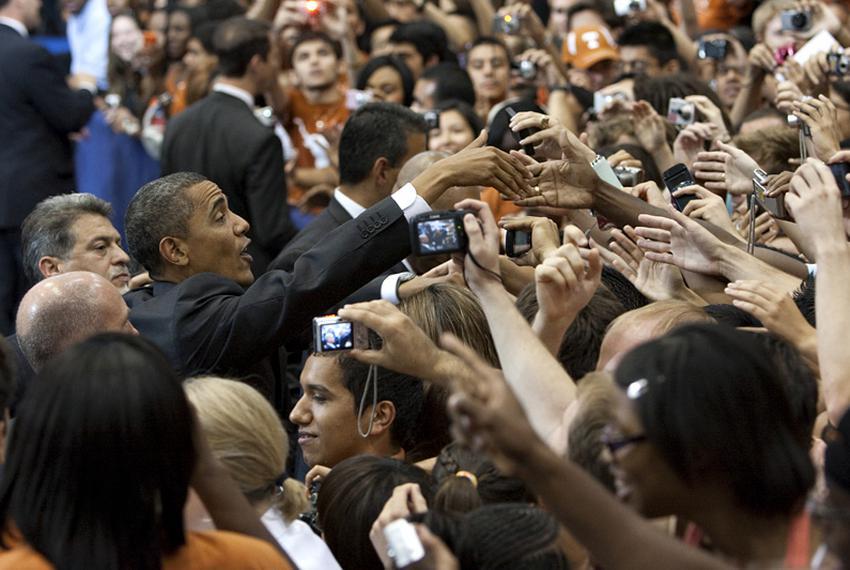 President Barack Obama at the University of Texas on Aug. 9, 2010