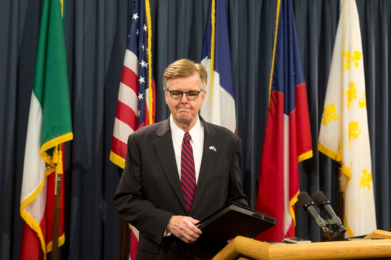 At a May 17, 2017 press conference at the Capitol, Lt. Gov. Dan Patrick warns he'll seek a special session if the House doesn't pass certain legislation.