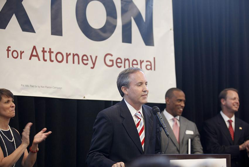 Senator Ken Paxton speaks to supporters in Plano on Thursday, August 1, 2013, to announcement his campaign for Attorney Gene…