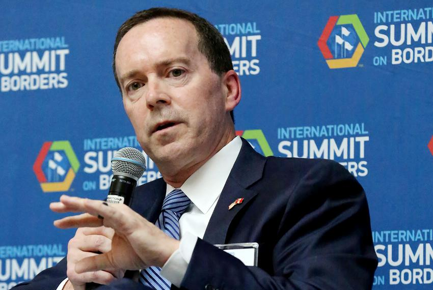 U.S. Customs and Border Protection Acting Commissioner John Sanders speaks in a panel discussion at International Summit on …