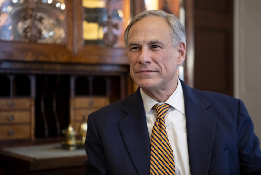 Gov. Greg Abbott in the Governor's Mansion on Jan. 8, 2018.