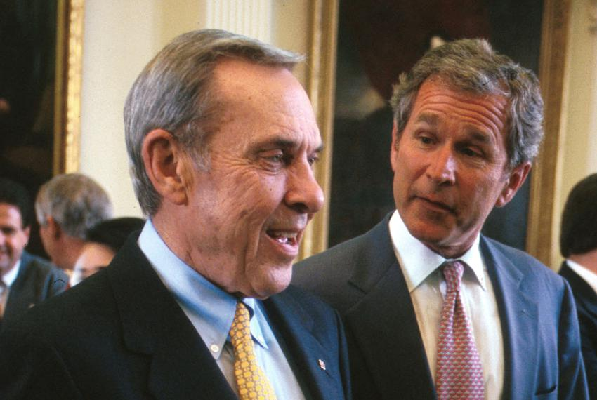 From left: Then-Lt. Gov. Bob Bullock and Gov. George W. Bush in 1997.