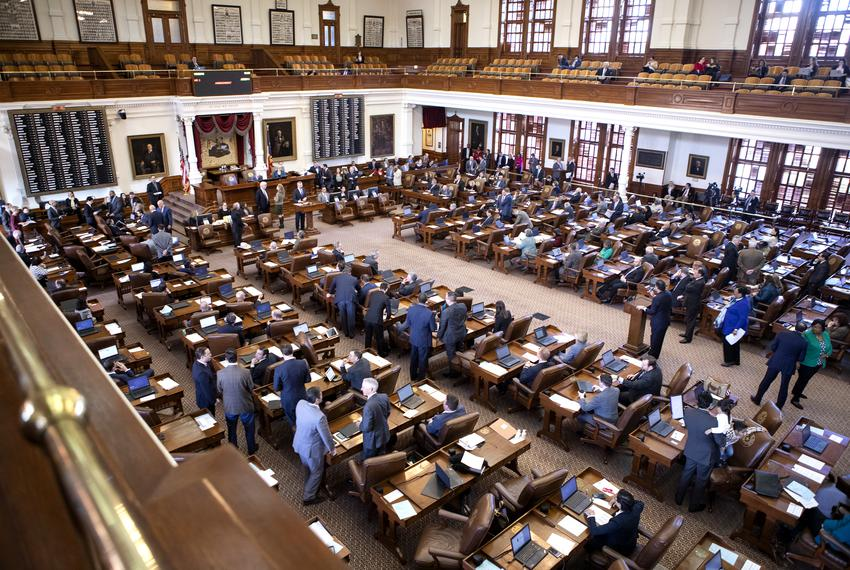 The House floor during the 86th legislative session. Jan. 9, 2019.