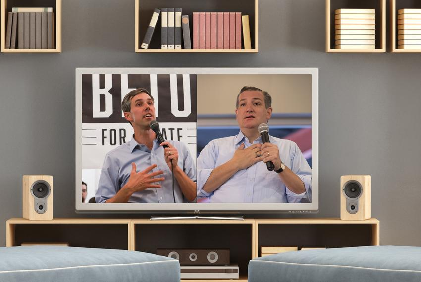 U.S. Sen. Ted Cruz (right) and U.S. Rep. Beto O'Rourke.