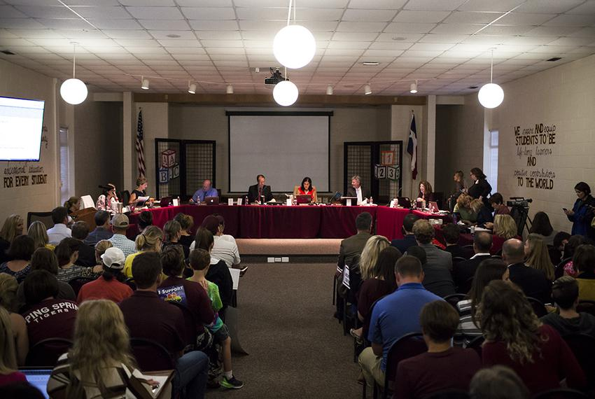 The Dripping Springs Independent School District Board held a public hearing regarding the policy allowing for a transgend...