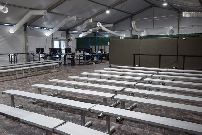 This is the main holding area where asylum seekers will be held to be sorted out to the area they need to be sent. Sept. 10, 2019.