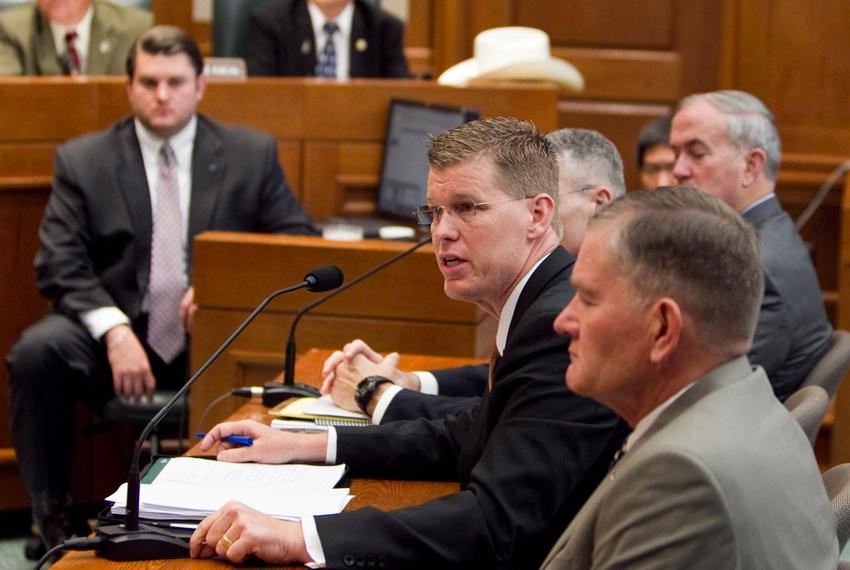 Texas Division of Emergency Management Chief Nim Kidd testified before the House Homeland Security & Public Safety Committ...