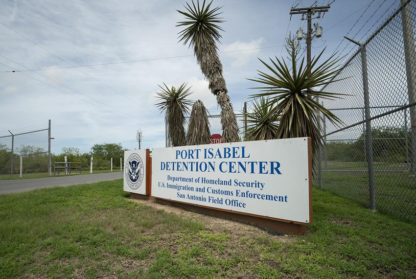 The main entrance to the Port Isabel Detention Center on Sunday, June 24, 2018. Port Isabel is about 20 miles northwest of...