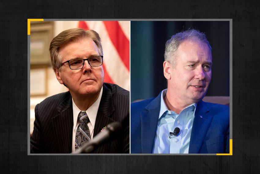 Lt. Gov. Dan Patrick (left) and Empower Texans CEO Michael Quinn Sullivan.