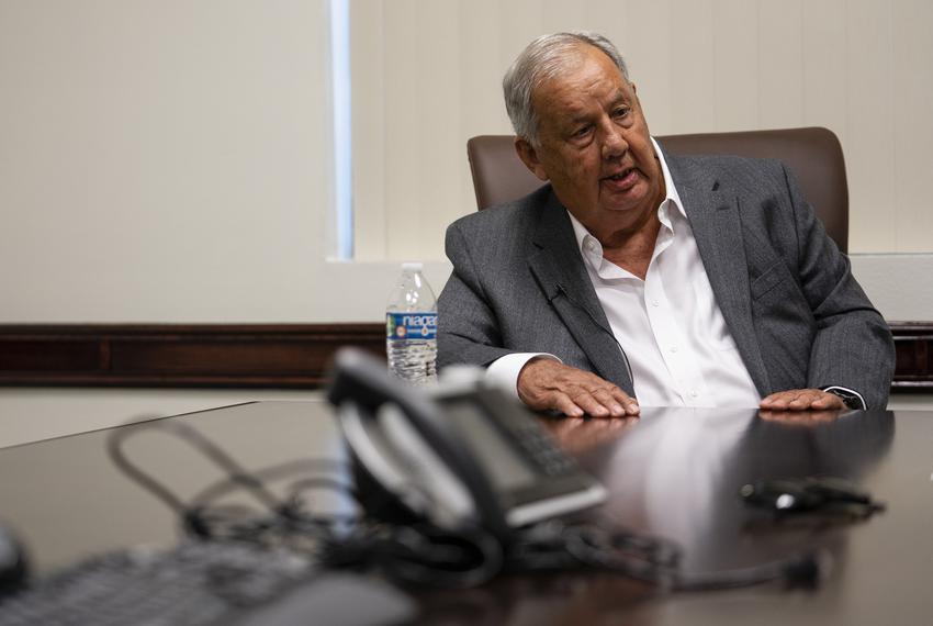 Hidalgo County Judge Richard Cortez at his office in Edinburg on Aug. 2, 2021.