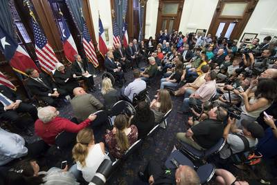 Texas Gov. Greg Abbott hosted panels after the shooting to study school safety and student mental health.