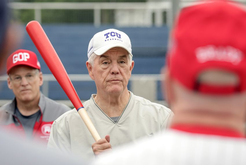 U.S. Rep. Roger Williams, R-Austin, is the coach of the Republican members baseball team. The team is practicing for its annual matchup against Democratic colleagues in Washington, D.C.