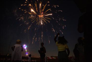 """Fireworks conclude the """"I Am Juneteenth"""" festival at the Panther Island Pavilion in Fort Worth on June 19, 2021."""