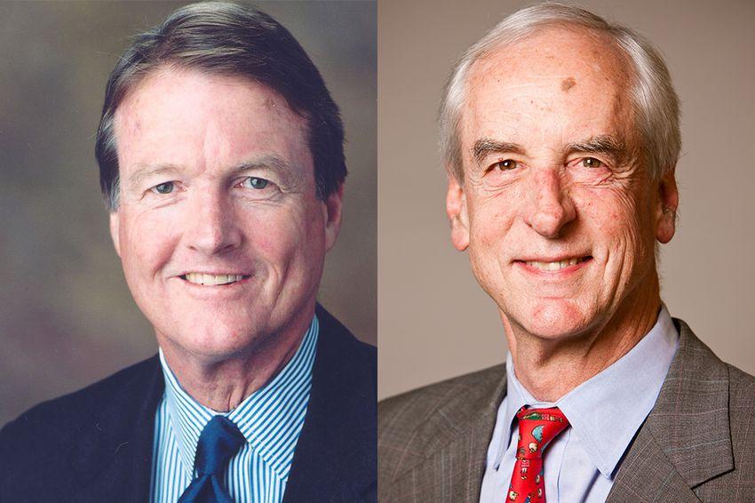 UT-Austin President Bill Powers, left, and Hunter Rawlings, president of the Association of American Universities.