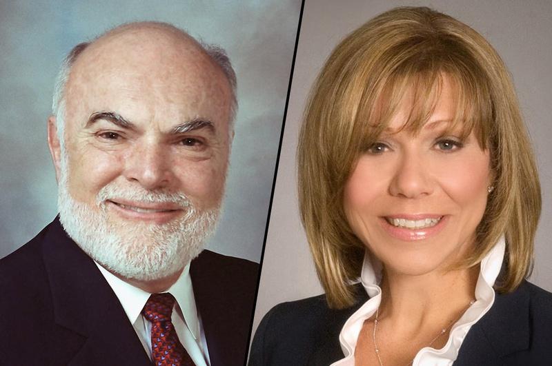State Sens. Robert Nichols and Joan Huffman.
