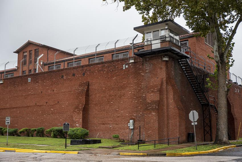 The exterior of Huntsville Unit, a prison in Huntsville, on Thursday, Nov. 14, 2019.