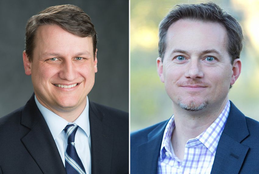 Bech Bruun (left) and Michael Cloud are Republican candidates facing off in the May runoff for the 27th Congressional District, currently held by outgoing U.S. Rep. Blake Farenthold, R-Corpus Christi.