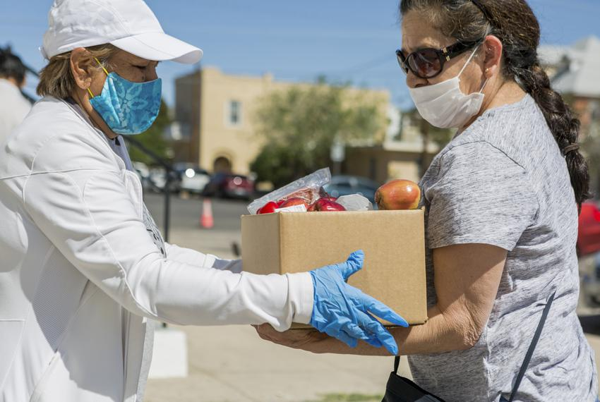 The Kelly Memorial Food Pantry in Central El Paso serves 700-1000 families a day during the Coronavirus pandemic, with lines…