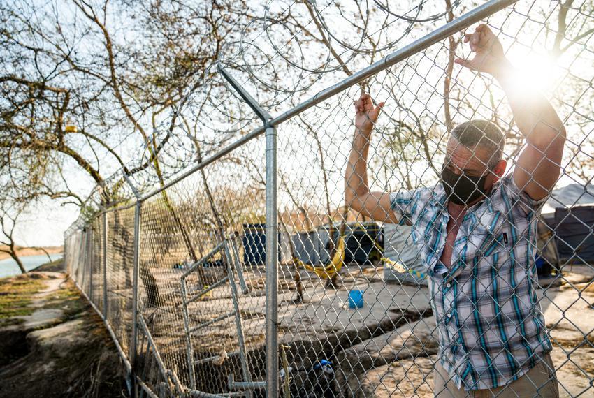 Cuban asylum seeker Joel Fernandez Cabrera, shares his experience of living at the migrant camp in Matamoros, Mexico on Feb.…