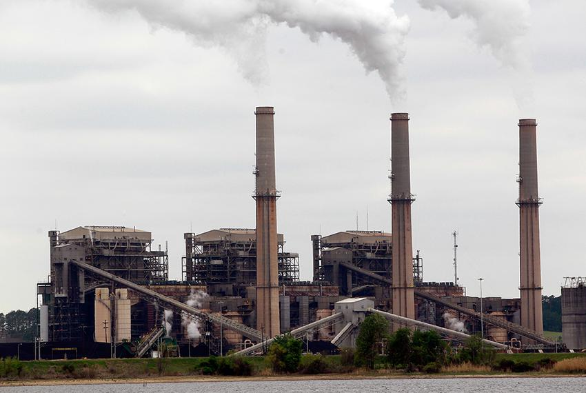 Steam rises from the stacks at the Martin Lake coal-fired power plant in Tatum, Texas.