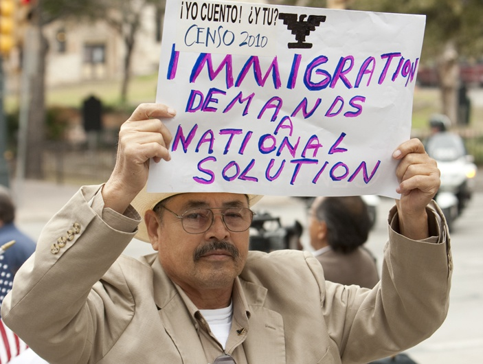 Immigration protest at Texas Capitol. February 22nd, 2011