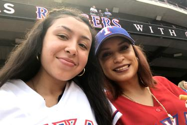 From left: Sisters Samantha and Liz Salas.
