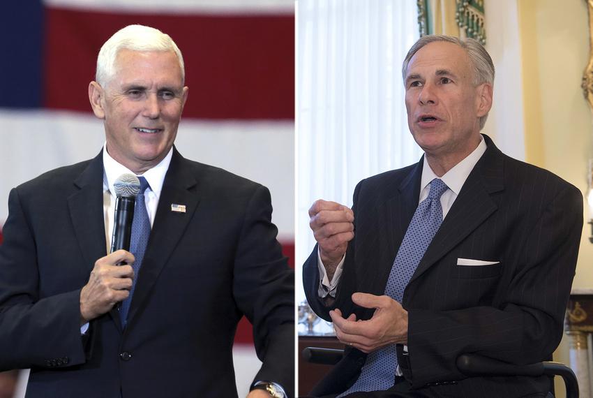 Vice President Mike Pence (left) and Gov. Greg Abbott.