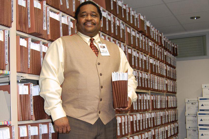 Tommy David, a medical coder at St. David's Hospital.