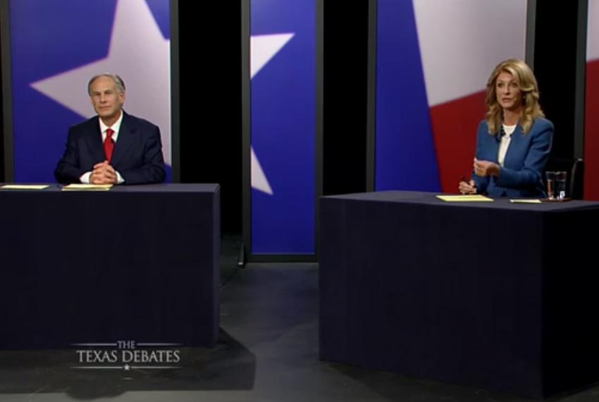 The second and final gubernatorial debate between Republican Attorney General Greg Abbott and state Sen. Wendy Davis, D-Fort…