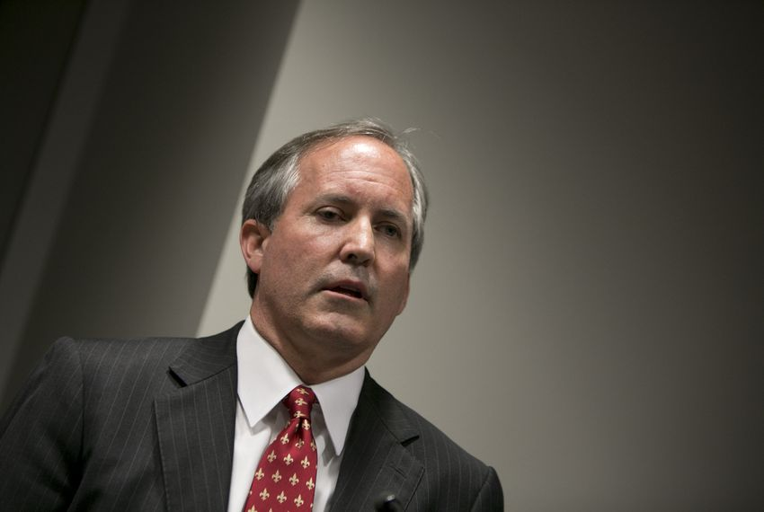 Texas Attorney General Ken Paxton during a press conference to recognize January as Human Trafficking Awareness Month on January 12, 2017.