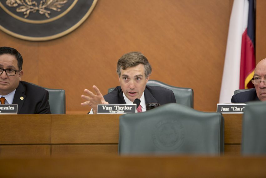Sen. Van Taylor R-Plano, during an August 22, 2016 Sunset Advisory Committee hearing in Austin, Texas