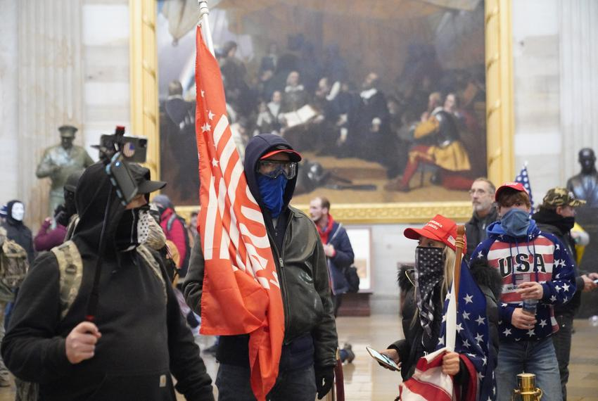 Pro-Trump rioters stormed the Capitol during a joint session of Congress in Washington, D.C., on Jan. 6, 2021. The joint ses…