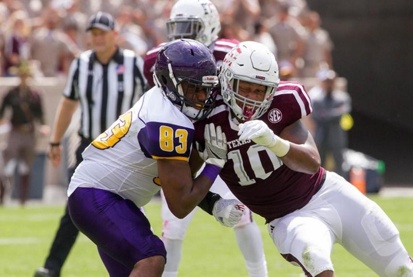 A football match between Texas A&M and Prairie View A&M on Saturday, Sept. 10, 2016. Texas A&M won 67-0. Prairie View got $4…