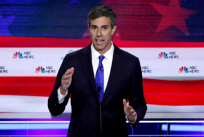 Former U.S. Rep. Beto O'Rourke speaks at the first debate of Democratic presidential candidates in Miami on June 26, 2019.