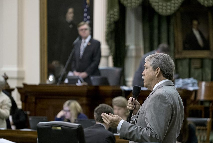 State Sen. Larry Taylor, R-Friendswood, on the floor of the Senate on Sunday, May 21, 2017.