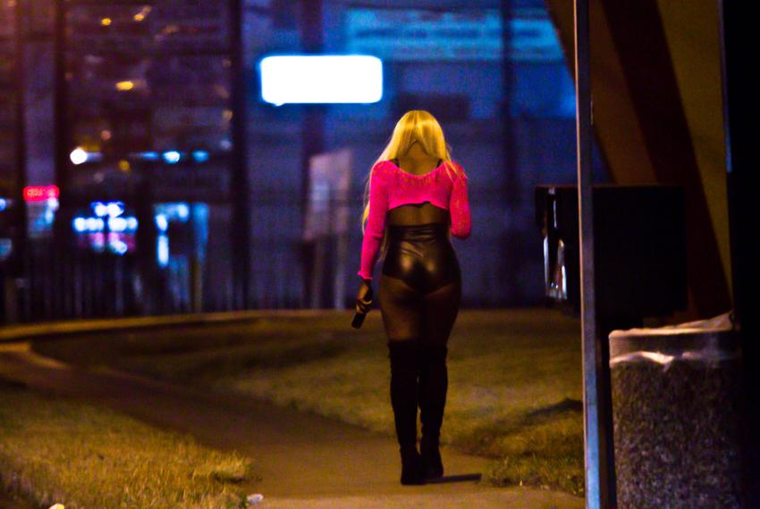 "Pimps send their victims to ""walk the track"" on a stretch of Bissonnet Street in Houston. Anti-trafficking efforts in Texa..."