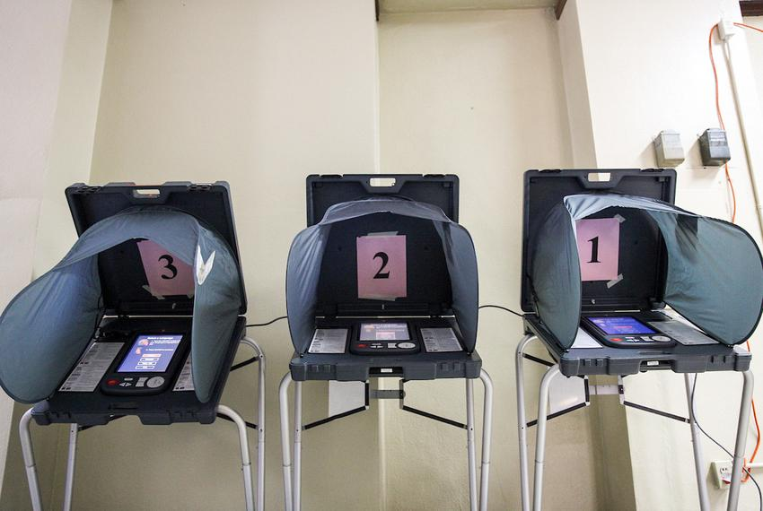 Electronic voting machines in the Houston area on Mar. 6, 2018.
