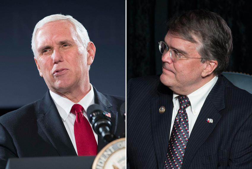 Vice President Mike Pence (left) and U.S. Rep. John Culberson, R-Houston.