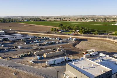 A Border Patrol substation in Clint where young migrant children were being held.