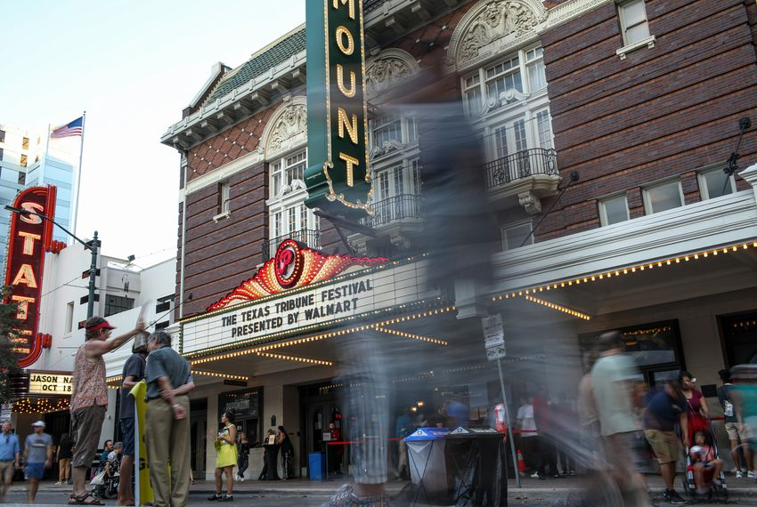 The Paramount Theatre on Congress Avenue was among the venues hosting 2019 Texas Tribune Festival events.