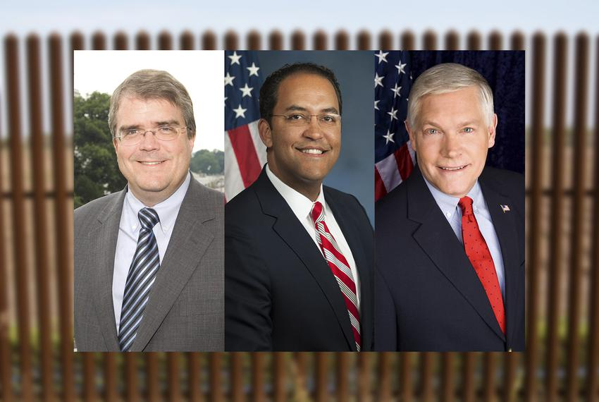 Left to right: U.S. Reps. John Culberson, R-Houston, Will Hurd, R-Helotes, and Pete Sessions, R-Dallas.