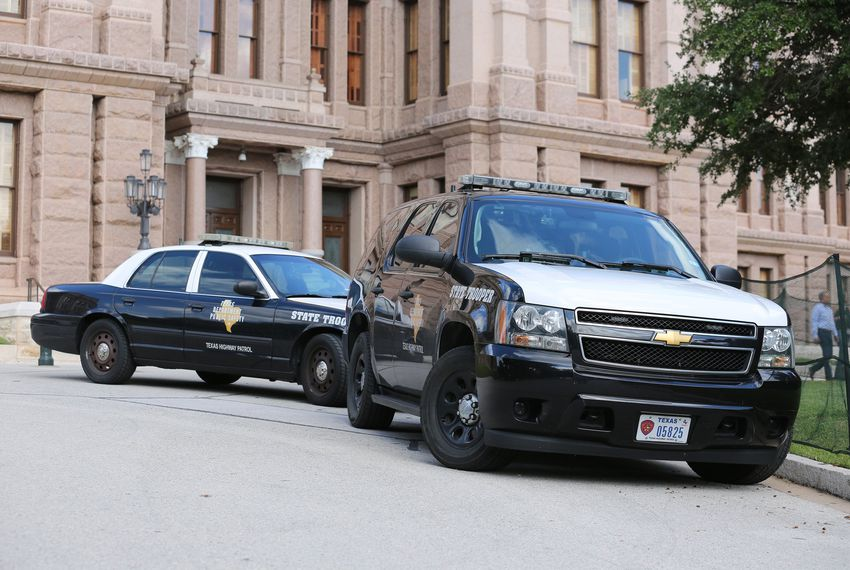 Increased presence of DPS at the state Capitol after a suspicious package was reported in Austin on Oct. 30, 2018.