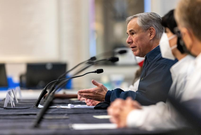 Gov. Greg Abbott speaks at a press conference regarding Texas' emergency response to an unprecedented winter storm gripping …