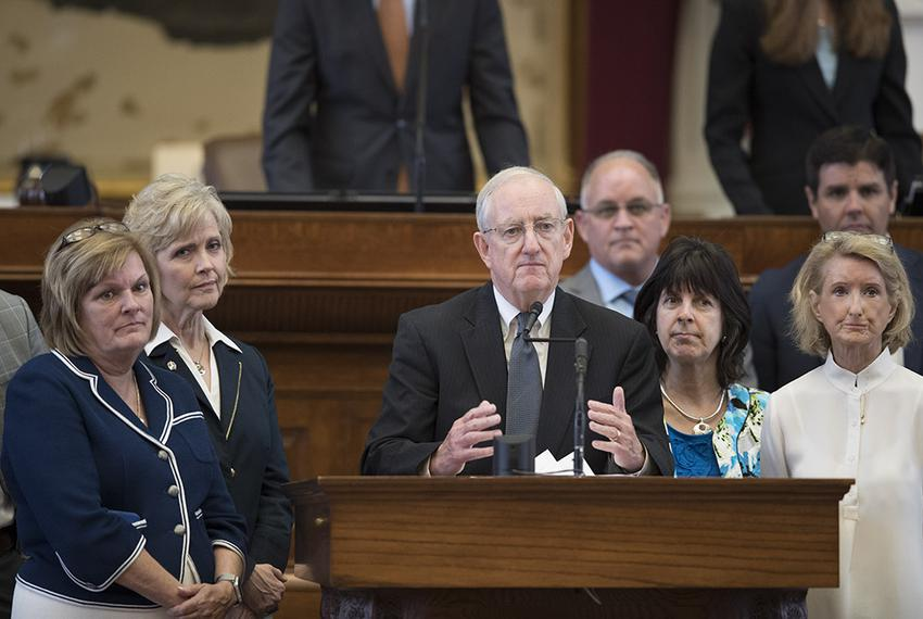 State Rep. John Smithee, R-Amarillo, discusses House Bill 214, which would limit health benefit coverage for elective abor...