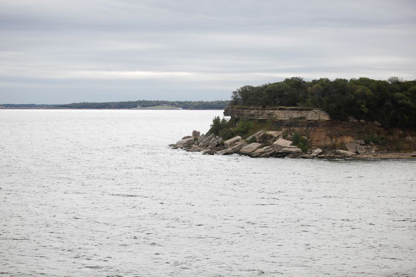 Lake Texoma in October 2013. Once a major water supply for North Texas, it has been offline amid a zebra mussel infestation.