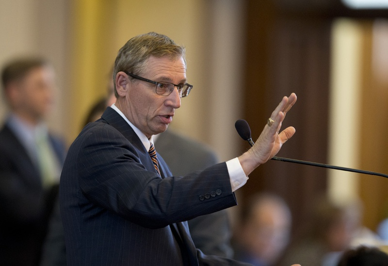 State Rep. Byron Cook, R-Corsicana, debates an amendment to SB19, an ethics bill on May 26, 2015.