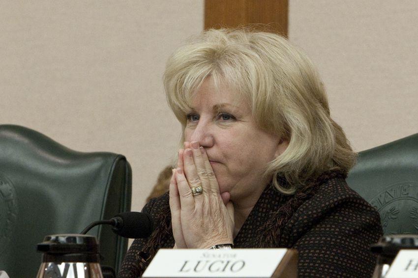 Sen Jane Nelson R-Flower Mound during Senate Finance Committee meeting on April 19th, 2011
